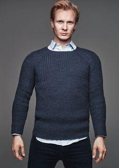 Mann af Petter Pilgaard - genser / sweater til en mand Knitting Projects, Knitting Patterns, Knit Fashion, Knit Crochet, Crotchet, Men Sweater, Turtle Neck, Pullover, Boys
