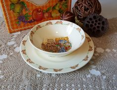 Trade Mark Plate and Bowl by on Etsy Retro Vintage, Vintage Items, Trade Mark, Plates And Bowls, Cereal Bowls, Royal Doulton, Dinnerware, Picnic, Bb