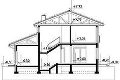 Projekt domu Piryt - murowana – beton komórkowy 164 m2 - koszt budowy - EXTRADOM Dom, Floor Plans, Outdoor Structures, Architecture, Arquitetura, Architecture Design, Floor Plan Drawing, House Floor Plans