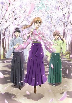 Chihayafuru. This anime.... is simply so beautiful and amazing. Chihaya, who didn't have any special traits, didn't know what it meant to have a dream. However, when she starts playing karuta with her friends arata and taichi, she dreams of becoming the Queen, the female top karuta player. (SYL)