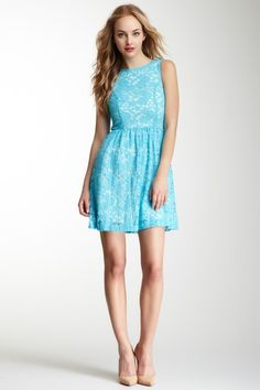 Kensie Sleeveless Lace Dress by Prints Charming on @HauteLook
