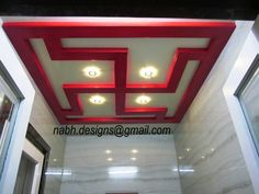 Pooja Room Ceiling Made In Wood And Deco Paint Door Design Temple Pooja Room Door Design, Home Room Design, House Design, Design Bedroom, Kitchen Design, Arch Designs For Hall, Temple Design For Home, Plafond Design, Bedroom False Ceiling Design