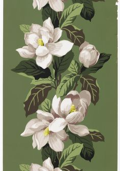 design-is-fine:  Sidewall with Magnolias, 1936-50. USA. Via Cooper Hewitt.
