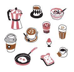 Illustration for Flow magazine by Sanny van Loon   breakfast   coffee  www.sannyvanloon.com