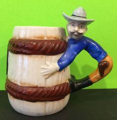 Vintage Takiya Japan Cowboy Coffee Mug Lucky Horseshoe Collectable Mugs For Men, Mugs For Sale, Ceramic Lady Heads, Vintage Cowgirl, Lucky Horseshoe, Mug Cup, Vintage Ceramic, Coffee Cups, Tea Pots