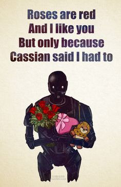 """sempaiko: """" Early Happy Valentine's Day message from your """"friendly"""" reprogrammed Imperial droid! ~Sempaiko """""""
