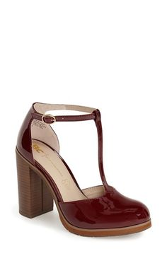 Free shipping and returns on BC Footwear 'Local' T-Strap Pump (Women) at Nordstrom.com. A chunky stacked heel and slight platformtake the classic T-strap silhouette into the realm of modern-day street style with aplomb. Arch-baring d'Orsay cutouts finish the edgy patentpump with a minimalistic touch.