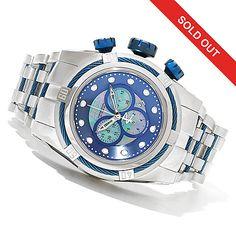 621-358 - Invicta Reserve 52mm Bolt Zeus Swiss Made Quartz Chronograph Bracelet Watch