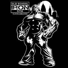 "226 gilla-markeringar, 8 kommentarer - Jerry Beck (@illustratusmaximus) på Instagram: ""New design for Old School Iron Gym here in Cleveland, Ohio. ✌ #OSI #OldSchoolIron #Cleveland…"""
