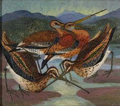 Snipes at low Tide, Cedric Lockwood Morris. English (1889 - 1982)
