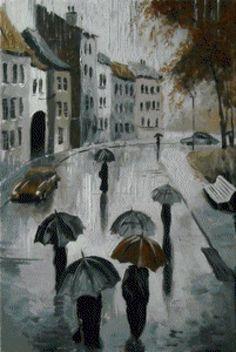 Зонты. Серия ненастный Петербур, предпросмотр