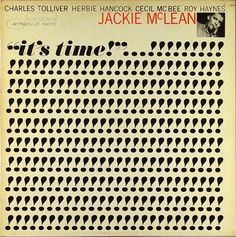 "Album cover for Jackie McLean's ""It's Time,"" designed by Reid Miles for Blue Note Records. Milton Glaser, Massimo Vignelli, Lp Cover, Vinyl Cover, Cover Art, Herb Lubalin, Album Design, Conception Album, Jackie Mclean"