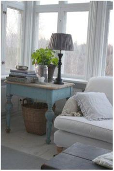 Shabby chic farmhouse living room decor ideas 24