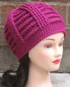Ravelry: Bailey Textured Beanie pattern by AlyseCrochet Crochet Baby Hats, Crochet Beanie, Easy Crochet, Free Crochet, Knitted Hats, Kids Hats, Crochet Fashion, Crochet Accessories, Beanie Hats