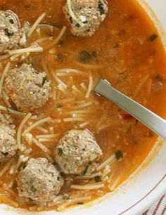 Healthy spaghetti soup