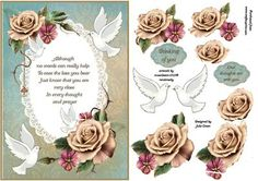 close in prayer on Craftsuprint designed by Julie Green - This is a lovely card for a sad occasion.Not quite the traditional sympathy card but more of a modern take. Makes a lovely card when the layers are buily up to a 3d effect - Now available for download!