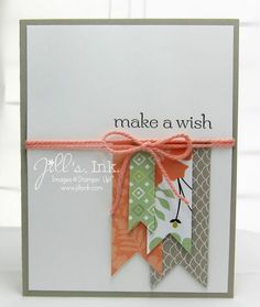 Sweet Sorbet Designer Papers & Crisp Cantaloupe Twine from the Accessory Pack...get them FREE during the Sale-a-Bration Promotion!!