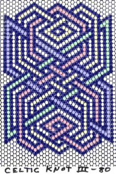 celtic knot pattern. Would make a neat hexi pattern.