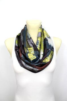 Hey, I found this really awesome Etsy listing at https://www.etsy.com/listing/183543510/silk-infinity-scarf-unique-fabric-circle