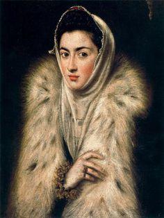 """El Greco """"La dama del armino"""""""