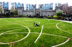 The serpent garden at Dublin Castle, Ireland.