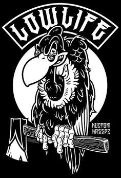 NikScarlett.com - Kustom Kreeps - Lowlife T-Shirt Design