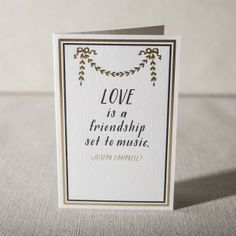love is a friendship