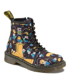 Look what I found on #zulily! Black & Yellow Finn & Jake Delaney Boot #zulilyfinds