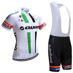 2017 Team Giant Pro Cycling Jerseys White Green  510c8a25d