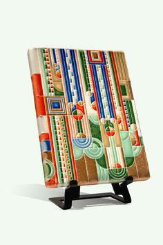 Raku Pottery, Art Nouveau, Art Deco, Frank Lloyd Wright, Thing 1, Tile Art, Ceramic Art, Cover Design, Cool Art