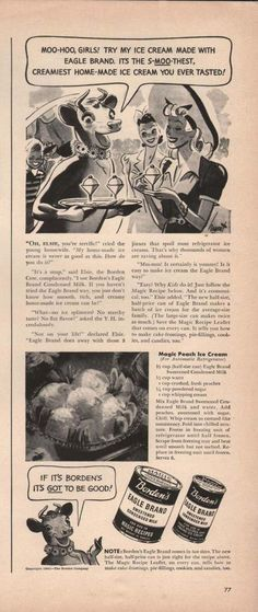 Bordens Eagle Brand Sweetened Milk (1941)