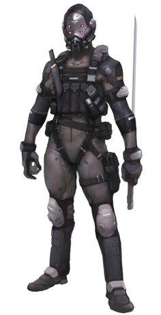 assassin by sucktoy - sekigan Futuristic Armour, Futuristic Art, Character Concept, Character Art, Character Design, Armadura Sci Fi, Arte Robot, Cyberpunk Character, Sci Fi Armor