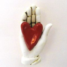 Ceramic Wall Sculpture My Heart in you Hand by Mudgoddess on Etsy, $28.00 Still on my to buy list!!
