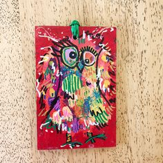 Merry Morepork/Owl Decoration Red (1) Nativity, Fun Facts, Gift Wrapping, Owl, Merry, Decoration, Gifts, Painting, Design
