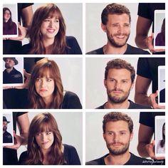 The many faces of Dakota and Jamie! #FiftyShades #DakotaJohnson #JamieDornan