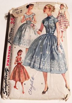 1950s Dress Full Skirt 2 piece Blouse sleeveless rockabilly