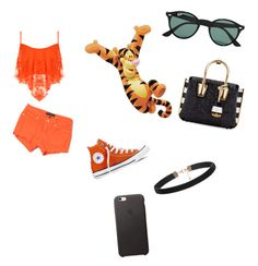 """""""#disneybound"""" by mya-trackewicz on Polyvore featuring WearAll, Juicy Couture, Converse, Ray-Ban, MCM, women's clothing, women, female, woman and misses"""