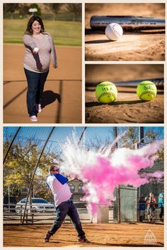 Gender Reveal!! Baseball/ softball style! Baseball Gender Reveal, Gender Reveal Box, Gender Party, Baby Gender Reveal Party, Gender Reveal Pictures, Gender Reveal Photography, Gender Announcements, Everything Baby, Baby Time