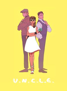 Ilya Kuryakin, Gabby Teller, Napoleon Solo, from Guy Ritchie's 2015 Man from U. Love Gabby's smile, and that *she's* got the disc here. Movies Showing, Movies And Tv Shows, Geeks, Codename U.n.c.l.e, Character Art, Character Design, Character Ideas, Napoleon Solo, Guy Ritchie