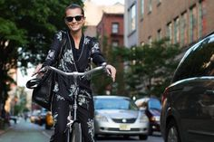 On the Street….Prince St., New York - making an argument for PJs on the street.  Photo by The Sartorialist.