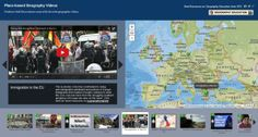 Over 50 placed-based geography video all spatially organized on an interactive map