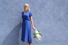 The Cecilia Dress – Nelipot Apparel Blue Bridesmaid Dress #dustyblue