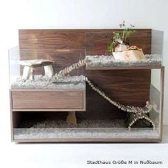 Guinea Pig House with back out...wood protects the back but it's not attached for pulling out from the wall to clean