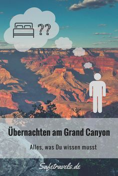 Übernachten am Grand Canyon? Alle Möglichkeiten am South Rim und North Rim kom… Staying at the Grand Canyon? All the options on the South Rim and North Rim compact in one article. And of course we'll tell you our favorites. Capitol Reef National Park, National Parks, Free Travel, Travel Usa, Alaska Travel, Alaska Cruise, Budget Travel, Beautiful Places To Visit, Cool Places To Visit