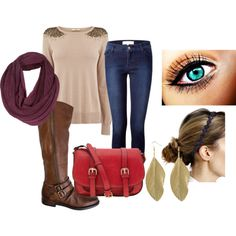 """""""sweater & jeans"""" by leahlouise17 on Polyvore"""