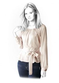 Lekala Sewing Patterns - Frauen Blusen Sewing Patterns Made to Measure and Royalty Free
