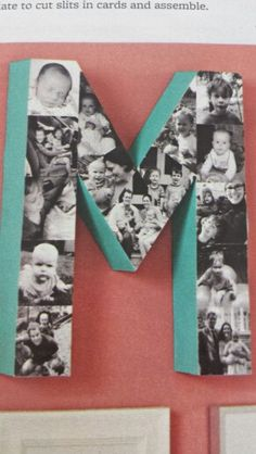 Block letter collage
