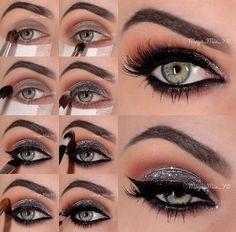 Arabian Princess Silver Eye Makeup Tutorial via #maya_mia_y