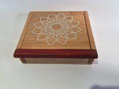 White epoxy inlayed Treasure Box Jewelry Box