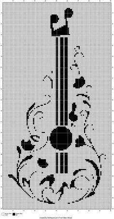 Guitarra punto cruz